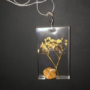 Handmade epoxy necklace